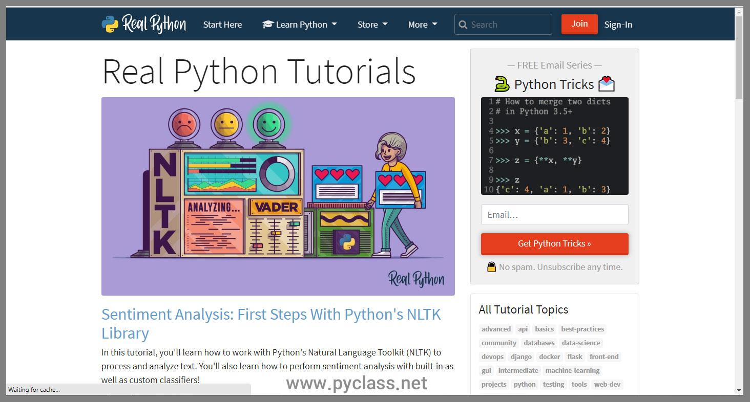 realpython مرجع عالی برنامهنویس ها